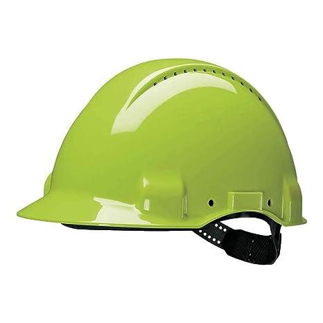 Casque de s/écurit/é 3M/™ G3000 blanc avec harnais standard et basane synth/étique ventil/é