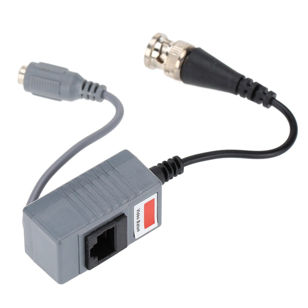 Festnight CCTV Camera Video Balun Transceiver BNC UTP RJ45 Video and Power Over CAT5//5E//6 Cable