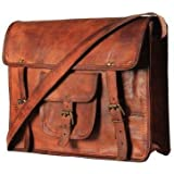 TUZECH Genuine Leather Bag Laptop Vintage Messenger Bag Handmade Unisex Fits Laptop Upto (11 Inches)