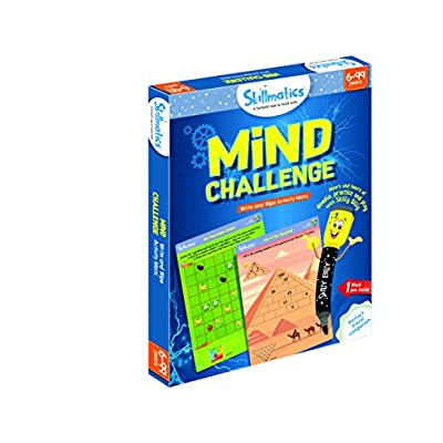 Skillmatics Educational Game: Mind Challenge (6-99 Years) | Erasable and Reusable Activity Mats | Travel Toy with Dry Erase Marker |  Learning tools for Kids 6, 7, 8, 9 Years and Up: Toys & Games