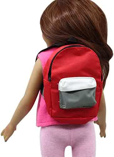XUANOU Double Straps Backpack Schoolbag For 18 inch Our Generation American  Girl Doll 7c20fbdd991ba