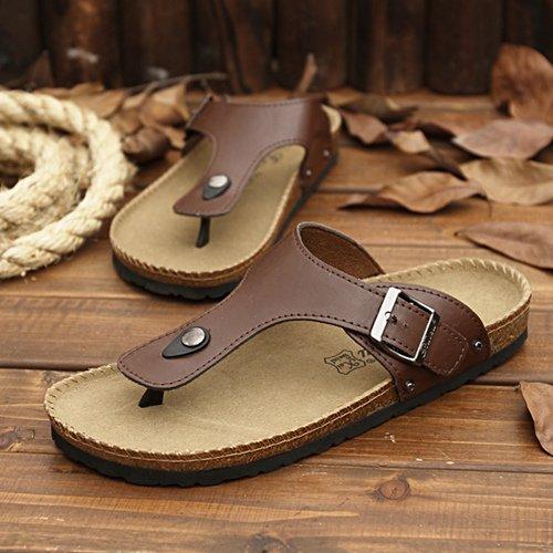 Xing Lin Sandales Pour Hommes Chaussons Pour Hommes Sandales Hommes D'Été Anti-Dérapant Chaussures De Plage Sandales Pied Clip