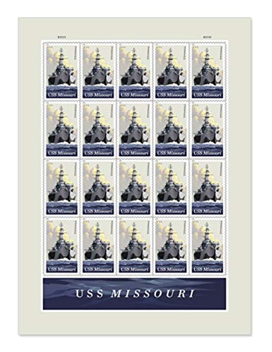 USS Missouri Forever Postage Stamps (One Sheet)
