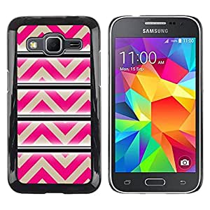 Paccase / SLIM PC / Aliminium Casa Carcasa Funda Case Cover - Pattern Pink Beige Lines Abstract - Samsung Galaxy Core Prime SM-G360