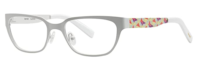 KENSIE Eyeglasses MADNESS White 53MM at Amazon Men\'s Clothing store: