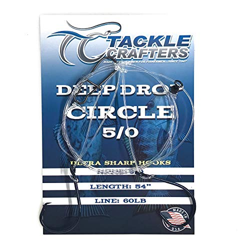 Tackle Crafters Deep Drop Hi Low Saltwater Fishing Rig (5/0, Circle Hook) 12 Pack