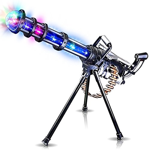"Rotary Effect (Light Up Rotary Machine Toy Gun with Tripod Stand by ArtCreativity | Rotating Barrel, LED and Sound Effects | 23"" Pretend Play Military Rifle 