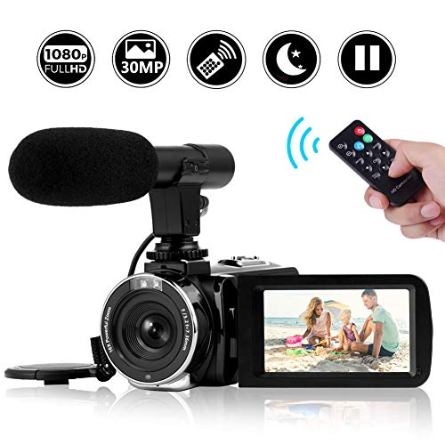Camcorder Video Camera Full HD 1080P Night Vision Camcorder Vlogging Camera Blogging Camera 16x Digital Camera Vlog Video Camera for YouTube Videos (2019 Updated Version)