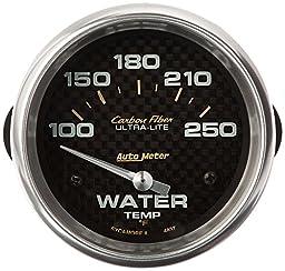 Auto Meter 4837 Carbon Fiber Electric Water Temperature Gauge