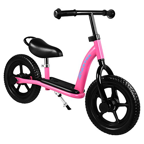 Maxtra No-Pedal Balance Bike Footrest Designed Bicycle Adjustable Pink for Ages 2 to 7 Years Old by Maxtra