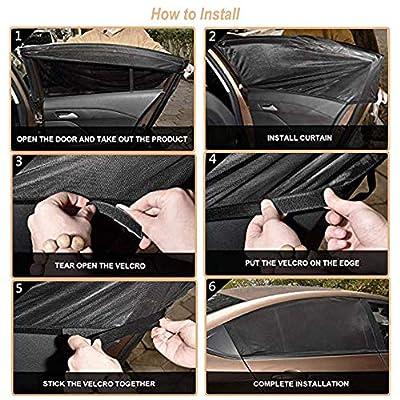 CARBONLAND Car-Window-Shades Side Rear Sun Protection Fit Small/Medium Car(2pck): Automotive
