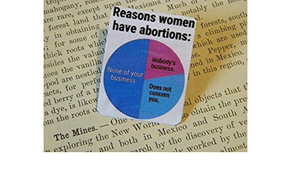 Pro-Choice Pin 1-inch Legal Abortion Your Purchase Supports Blue Mountain Clinic