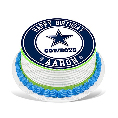 Dallas Cowboys Edible Cake Topper Personalized Birthday 8