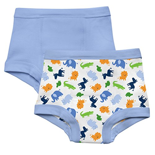 green sprouts by i play. Training Underwear, Blue Jungle, 4T...