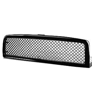For Dodge Ram Diamond Mesh Front Upper Bumper Grille Guard (Glossy Black) - BR BE 2nd gen