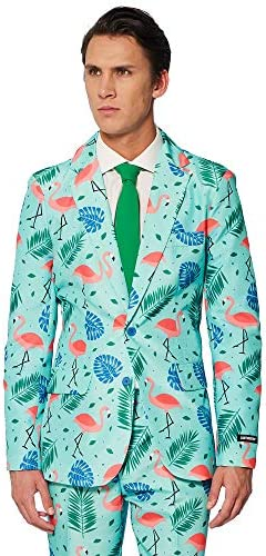 Suitmeister Funny Suits for Men in Different Prints - Comes with Jacket, Pants and Tie with Fun Prints 4