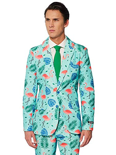 Suitmeister Halloween Costumes for Men – Tropical- Include Jacket Pants & Tie, Tropical, Small