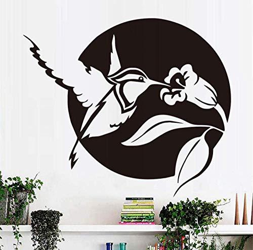 Leguliya Hummingbird Wall Sticker for Kids Rooms Wall Decor Bird Flower Removable Vinyl Wall Art Decals Stickers Home Decor 67x58cm ()