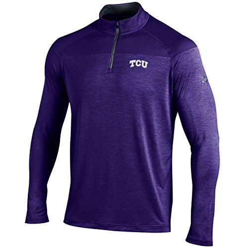 Under Armour NCAA TCU Horned Frogs Men's Tech 1/4 Zip Tee, Large, - Clothing Frogman