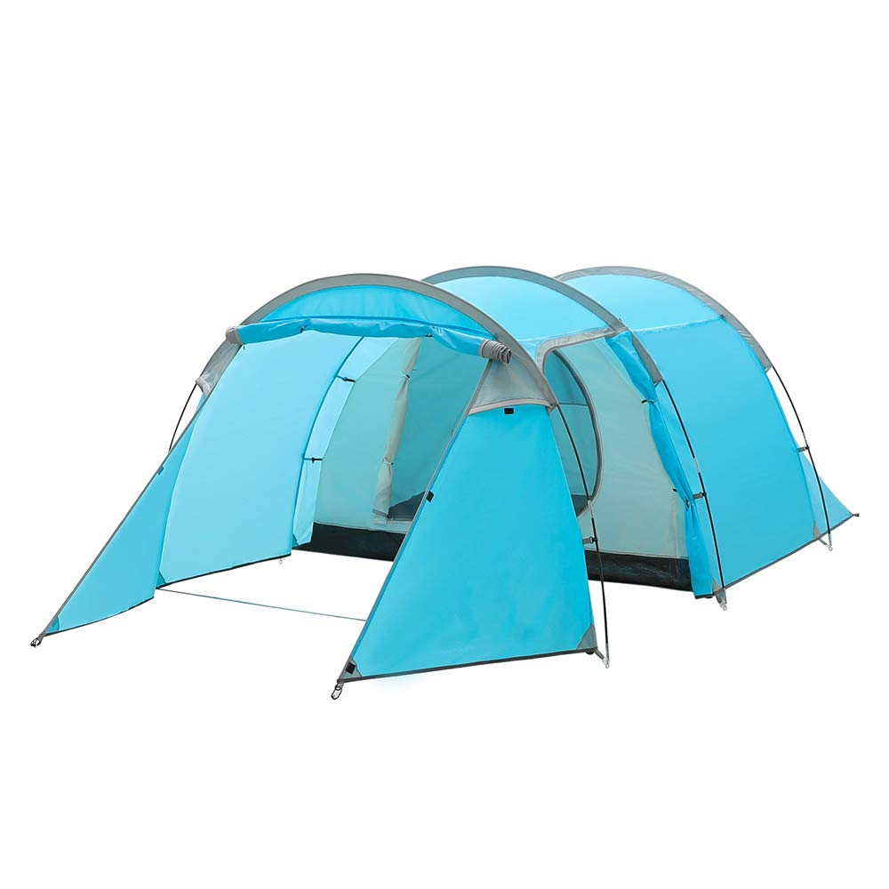 Night Cat Family Camping Tents 2 3 Person Tunnel Tents Easy Manual Setup Dome Tent Waterproof Rainproof 4 Seasons by Night Cat