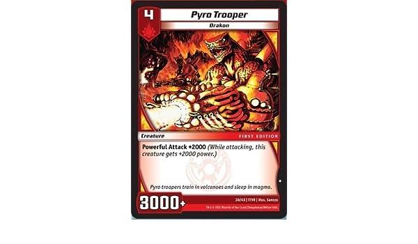 Kaijudo TCG - Pyro Trooper (30) - Tatsurin Vs Razorkinder by Kaijudo: Rise of the Duel Masters: Amazon.es: Juguetes y juegos