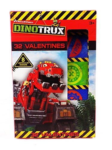 32 Dinotrux Lenticular Valentines