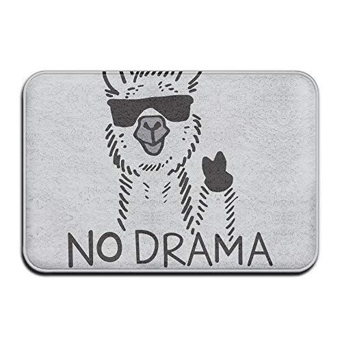 Door Mat No Drama Llama Non-slip Stain Fade Resistant Soft Living Dining Room Rug For Front Door Entrance Outside Doormat 23.615.70.39Inch