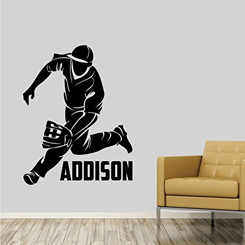 Custom Boys Name Baseball. -0282- Personalized Boys Baseball Wall Decal - Baseball Theme Wall Decal - Fielder