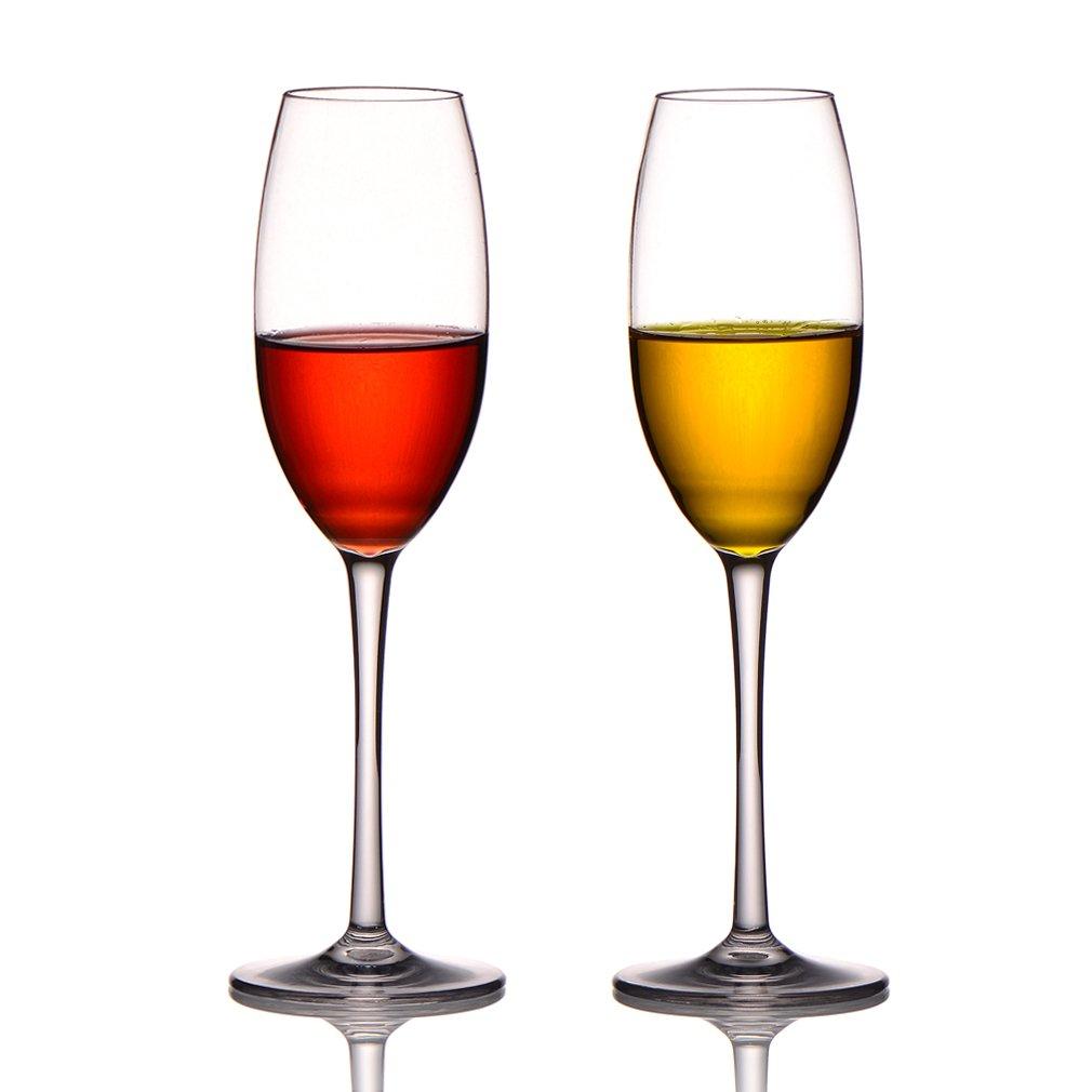 MICHLEY Copas de Champ/án Irrompible 100/% Tritan-pl/ástico Copas de Vino Libres de BPA,Interior//Al Aire Libre Copas de Vino de pl/ástico 20 Cl Conjunto de 2