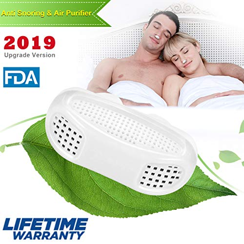 2-in-1 Anti Snoring Devices, Snoring Solution Nasal Dilator Anti Snoring Nose Vents Plugs Clip Stop Snoring Aids Snore Stopper Reduce Snoring Sleeping Aid Device for Ease Breathing