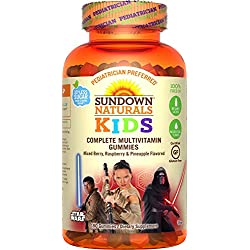 Sundown Naturals Kids Star Wars Complete Multivitamin, 180 Count