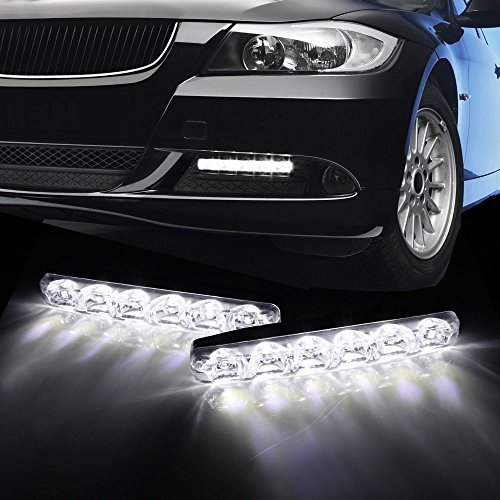 iJDMTOY 60-086 6000K Cool White 6-LED LED Daytime Running Lights