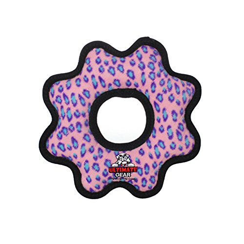 - TUFFY Ultimate Gear Ring, Durable Dog Toy (Regular, Pink Leopard)