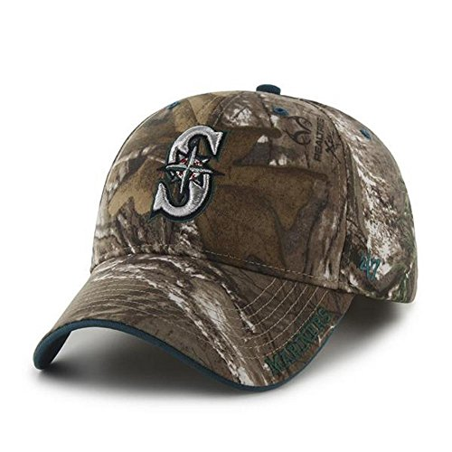 fan products of MLB Seattle Mariners '47 Frost MVP Camo Adjustable Hat, One Size Fits Most, Realtree Camouflage