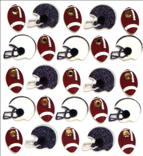 - Jolee's Boutique Dimensional Stickers, Footballs and Helmets