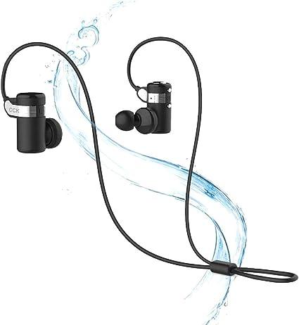 KS Écouteurs Bluetooth sans fil pour le sport, la course à pied, la musique Hi Fi, résistant à la transpiration, suppression du bruit, écouteurs sans