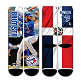 Toronto Blue Jays Jose Bautista Player Photo Mega Flag Crew Socks - Size Large