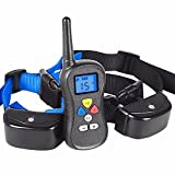 Patpet Remote Dog Shock Collar,980ft Range and Rainproof Collar with Beep/Vibrating/Shock,Adjustable Buckles for Dogs (10Lbs - 100Lbs)-PTS008