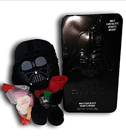 Star Wars Valentine Milk Chocolate With Darth Vader Plush Toy