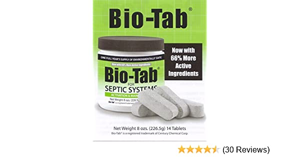 Bio-Tab for Septic Systems 8 oz (226 5g) 14 Tablets