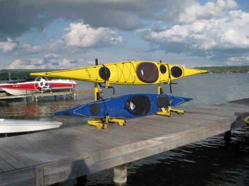 2 boat free standing kayak rack