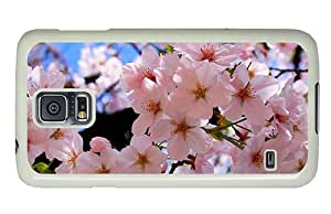 Hipster underwater Samsung S5 Case spring blossoms PC White for Samsung S5
