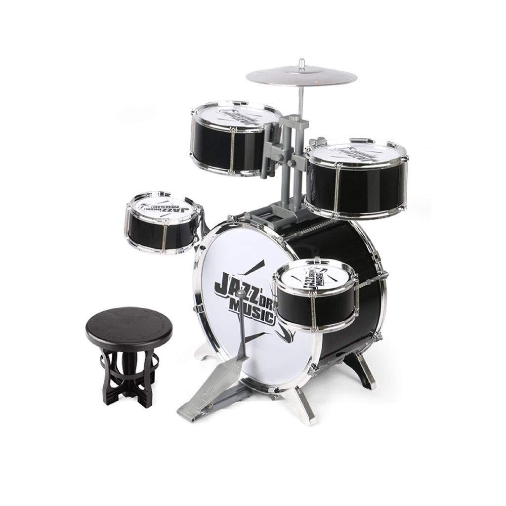 SHLIN-ドラム おもちゃのドラムパーカッション子供のジャズドラムギフトボーイ幼年期3-6歳 SHLIN-ドラム (色 : ブラック) ブラック) ブラック B07R8GKD8X B07R8GKD8X, 景品キングゴルフ:8f7ff5d7 --- m2cweb.com