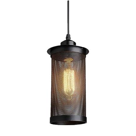 Lámpara colgante retro vintage, iluminación de techo, casquillo E27, AC220 – 240 V para mesa de comedor, dormitorio, barra de café, iluminación de ...