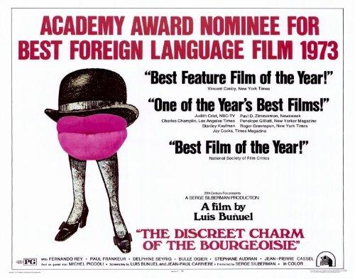 The Discreet Charm of the Bourgeoisie Movie Poster (22 x 28 Inches - 56cm x 72cm) (1972) Half Sheet -(Milena Vukotic)(Fernando Rey)(Delphine Seyrig)(Jean-Pierre Cassel)(Bulle Ogier)(Michel Piccoli)