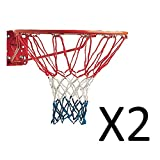 Champion Red White Blue American USA Replacement Basketball Net 21' 4mm (2-Pack)