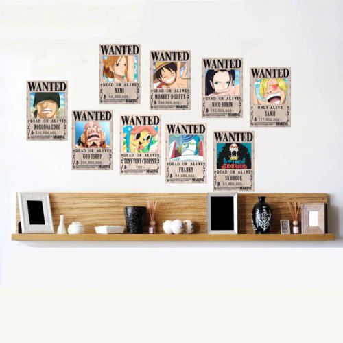 10 PCS//LOT ONE Piece Wanted Posters Anime Poster Onepiece Luffy Nami Robin Sanji TM KuierShop