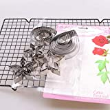 23pcs/set Rose Petal leaf Cookie Cutter Moulds Stainless Steel Pastry & Biscuit Cutter Cake Mold DIY Decoration