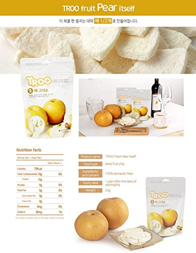 Freeze Dried Pear Chips(21 gr/pack x 5 packs) by Troo (Image #9)