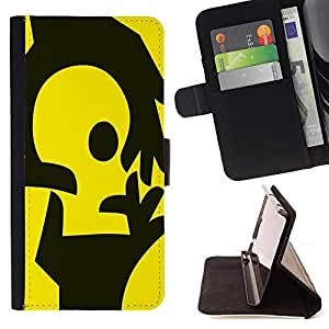 Jordan Colourful Shop - Yellow Hands For Samsung ALPHA G850 - Leather Case Absorci???¡¯???€????€???????????&AE